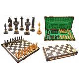 Шахматы 3104 ROYAL, коричневые 62x31,5x7см (король-125мм)