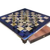 Шахматы S10BLU 44х44см, Manopoulos,