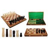 Шахматы 310601 LARGE CASTLE Intarsia, коричневые 60x30х7см (король-150мм)