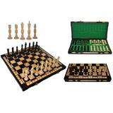 Шахматы 3109 GALANT, коричневые 57x28,5x6см (король-140мм)