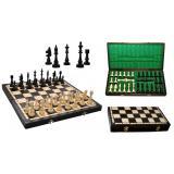 Шахматы 3150 CLUB коричневые 46x23x5см (король-95мм)