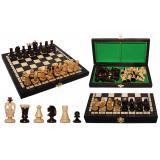 Шахматы 3113 SMALL KINGS, коричневые 28,5x14x4,5см (король-60мм)