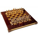 Шахматы S15RED 28х28см, Manopoulos,