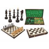 Шахматы 3120 OLD POLISH , коричневые 55,5x28x6см (король-140мм)