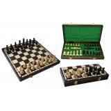 Шахматы 3122 OLIMPIC, коричневые 40x20x5см (король-90мм)