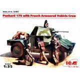 Французский командирский бронеавтомобиль Panhard 178 с экипажем (ICM 35381)