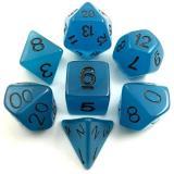 Набор светящихся в темноте кубиков RPG 7 шт (цвет в ассортименте)