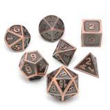 Набор металлических кубиков RPG 7 шт (объёмные, матовые) + ПОДАРОК