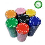 Покерный набор из глиняных фишек ECO Strip - 200