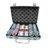 Покерный набор в алюминиевом кейсе на 200 фишек, с номиналом 1-25, 11,5гр. (арт. CG11200)