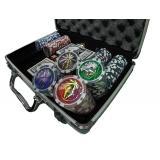 Покерный набор в алюминиевом кейсе на 200 фишек, с номиналом 1-100, 11,5гр. (арт. CG11200)