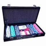 Набор для покера на 300 фишек в кожаном кейсе без номинала