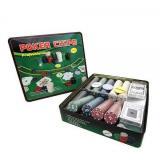 Покерный набор в оловянном кейсе на 500 фишек, номинал 1-50, 4гр