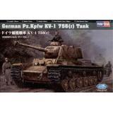 Сборная пластиковая модель танка German Pz.Kpfw KV-1 756( r ) (HB84818) Масштаб: 1:48