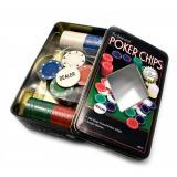 Покерный набор на 100 фишек в оловянной коробке, без номинала, 4гр. (арт. TC04100)