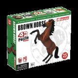 Объемный пазл Скачущая коричневая лошадь (26459)