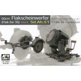 Прожектор GERMAN SW-36 SERCHLIGHT/WITH Sd.Ah.51 TRAILER (AF35125) Масштаб:  1:35