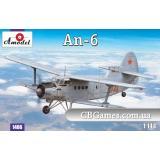 Самолет Антонов Ан-6 (AMO1466) Масштаб:  1:144