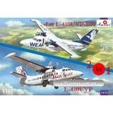 Самолеты Let L-410UVP-E10 и L-410UVP (2 модели в комплекте) (AMO1473) Масштаб:  1:144