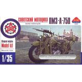 Советский мотоцикл ПМЗ-А-750 с пулеметом ДТ (AIM35005) Масштаб:  1:35