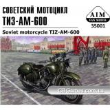 Советский мотоцикл ТИЗ-АМ-600 с пулеметом ДТ (AIM35001) Масштаб:  1:35