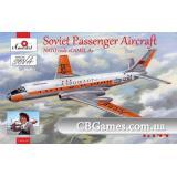 Советский пассажирский самолет Туполев Ту-104 A 2 (AMO1469-01) Масштаб:  1:144