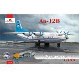 Транспортный самолет Антонов Ан-12 Б (AMO1470) Масштаб:  1:144
