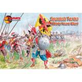 Фигурки испанских солдат,Тридцатилетняя война (MS72042) Масштаб:  1:72