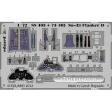 Фототравление 1/72 Су-33 Flanker D самоклеющееся (рекомендовано для Hasegawa) (EDU-SS403) Масштаб:  1:72