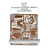 Фототравление для Су-27 интерьер (Mars-PE48004) Масштаб:  1:48