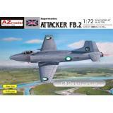 Палубный истребитель Supermarine Attacker FB.2 (AZMO72083) Масштаб:  1:72