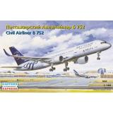 Пассажирский авиалайнер Б-752 (EE14481) Масштаб:  1:144