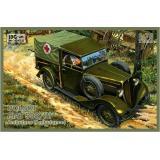 Польский Fiat 508/III (скорая помощь) (IBG72010) Масштаб:  1:72
