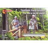 Тевтонская полевая артиллерия (первая половина XV века) (MS72064) Масштаб:  1:72