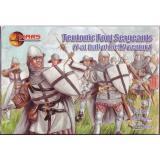 Тевтонские пешие сержанты, 1-ая половина XV столетия (MS72052) Масштаб:  1:72