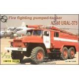 AZ-40 Ural-375 fire fighting pumped-tanker (ZZ72009) Масштаб:  1:72