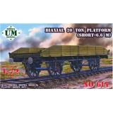 Biaxial 20 ton platform (UMT614) Масштаб:  1:72