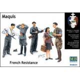 Бойцы французского Сопротивления «Маки» (MB3551) Масштаб:  1:35