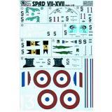 Декаль для модели истребителя Spad VII-XVII Part 1 (PRS48-046) Масштаб:  1:48