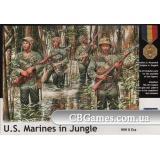 Морская пехота США в джунглях, 2МВ (MB3589) Масштаб:  1:35