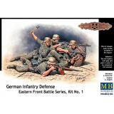 Немецкая пехота в обороне, Восточный фронт, (комплект1) (MB35102) Масштаб:  1:35