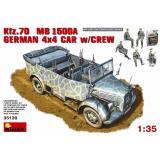 MA35139  Kfz.70 (MB 1500A) German 4x4 Car w/Crew