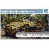 Немецкий бронированный  артиллерийский тягач Sd.Kfz.8 Gepanzerte 12t (TR01584) Масштаб:  1:35