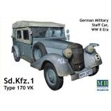 Немецкий штабной автомобиль Sd.Kfz.1 / German staff car Sd.Kfz.1 Type 170 VK (MB3530) Масштаб:  1:35