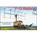 P-12 Soviet radar vehicle, plastic/resin/pe (ZZ72005) Масштаб:  1:72