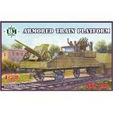Платформа бронепоезда / Armored train platform (UMT642) Масштаб:  1:72