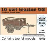 Прицеп CMP 10 cwt GS (в комплекте 2 модели) (MirrorM-35150) Масштаб:  1:35