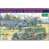 Разведывательный бомбардировщик Пе-2Р с бензозаправником БЗ-38 (UM108) Масштаб:  1:72
