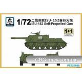 САУ  ИСУ-152 (2 модели в наборе) (SMOD-PS720065) Масштаб:  1:72