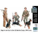 Собаки на службе корпуса морской пехоты США (MB35155) Масштаб:  1:35